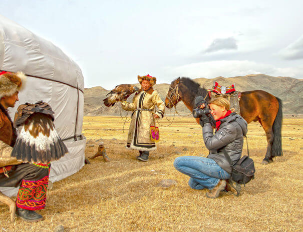 Mongolei_Adlerjaeger_Tourist