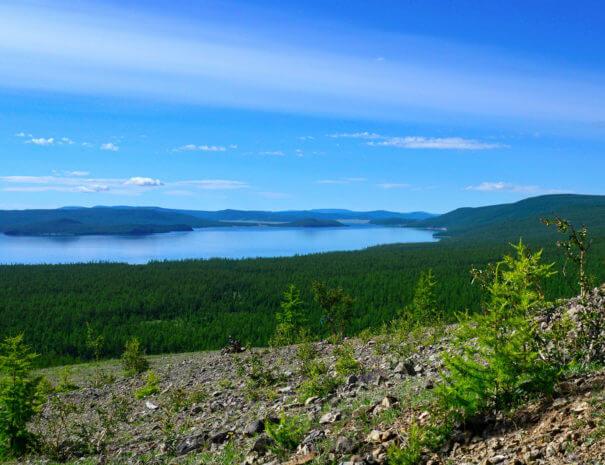 Mongolei_Khuvsgul_See_Panorama