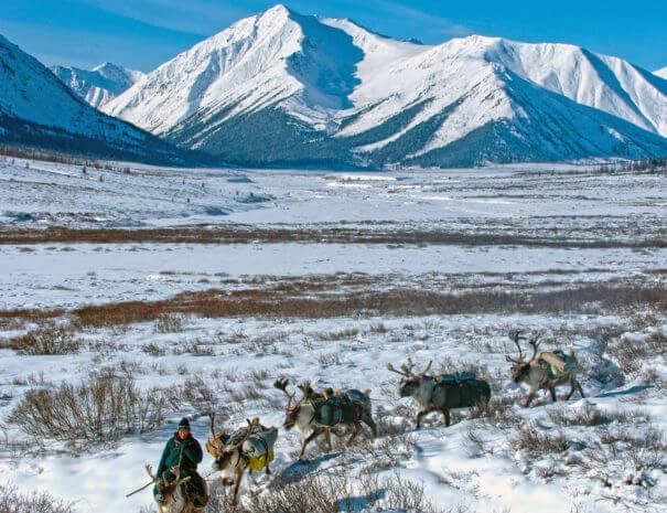 Mongolei_Renntiere_Berge