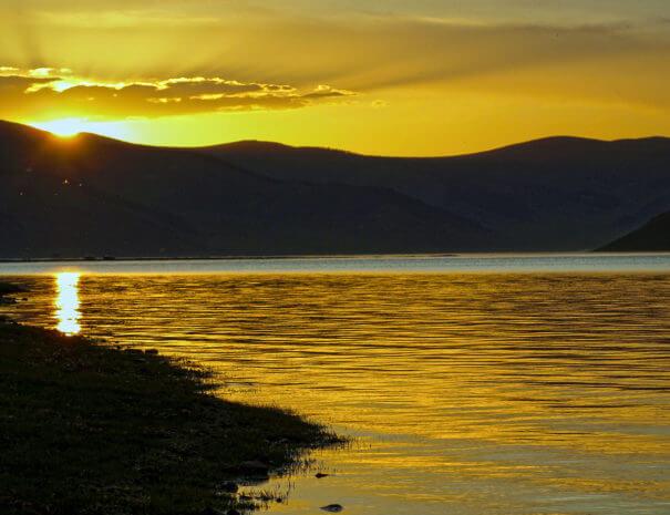 Mongolei_Taiga_Sonnenuntergang