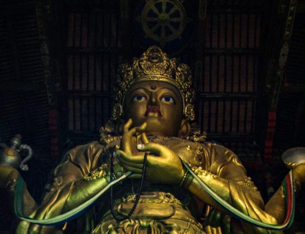 Mongolei_Gandan_Kloster_Statue
