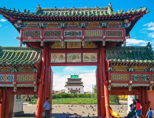 Mongolei_Gandan_Kloster_Tor